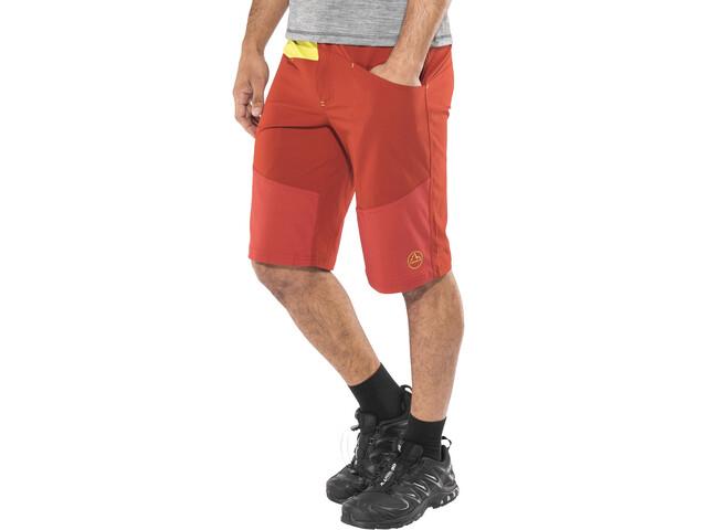 La Sportiva TX Pantalones cortos Hombre, brick/sulphur